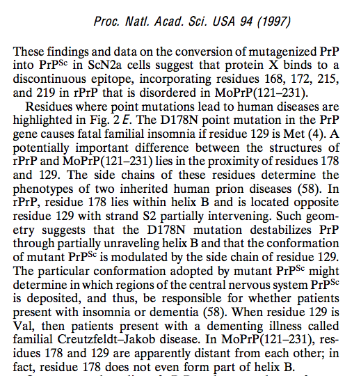 prions research paper The recent advances in prions research have gone a long way but disappointingly active immunization is yet to be discovered it is evident that the main obstacle to vaccine therapy comes from the tolerance of the immune system to prions and more specifically to its own prp protein.