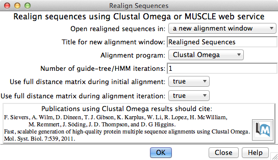 realignment dialog