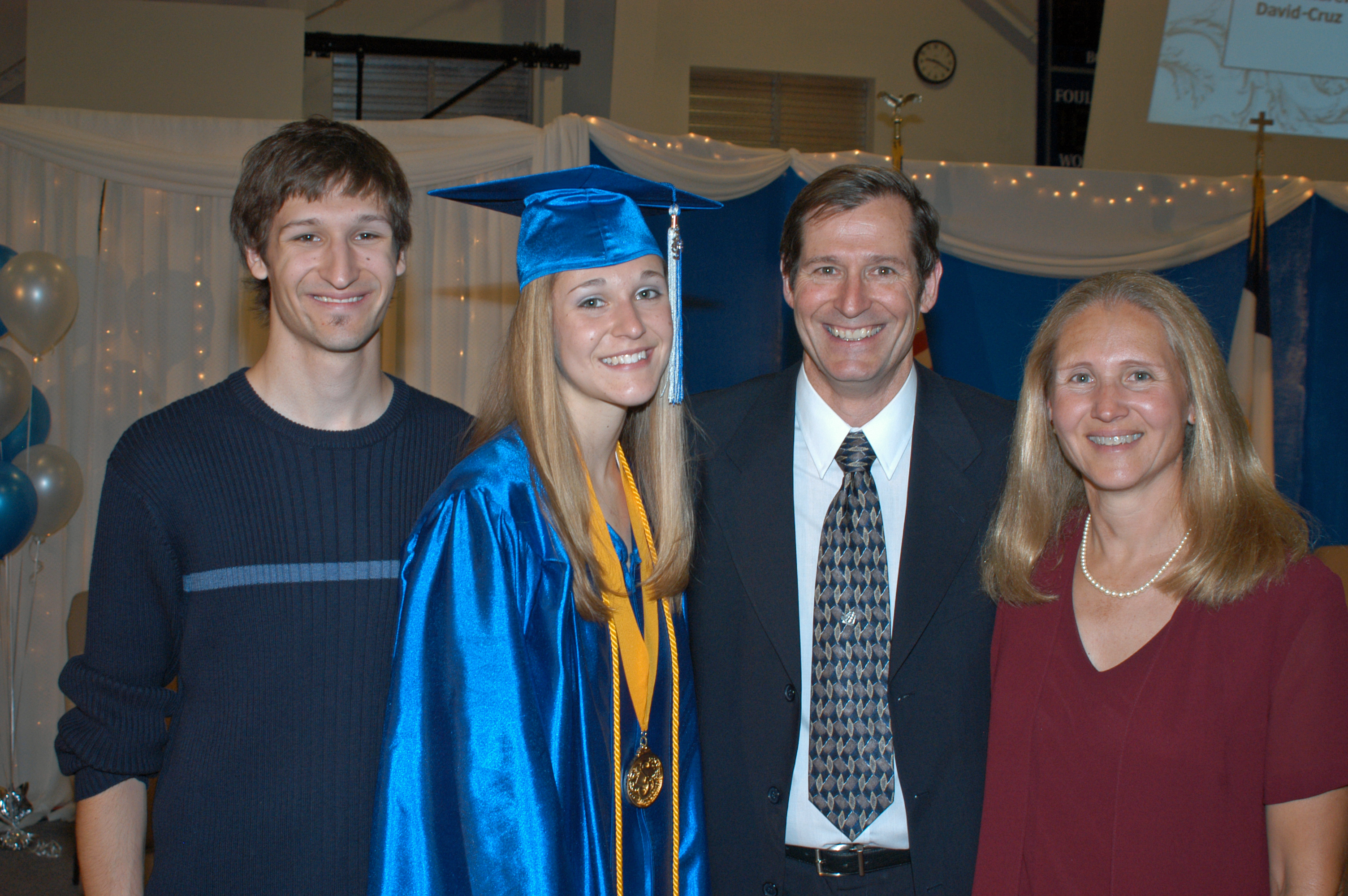 The morris family at sarah s graduation