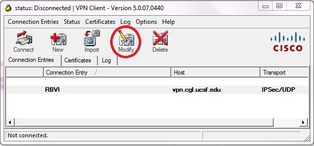 RBVI's Virtual Private Network(VPN)